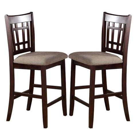 pc dark rosy brown wood dining counter height high  chairs stools fabric ebay