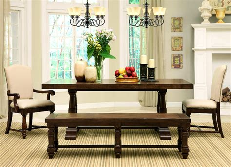 bench seating for dining room tables treasure 4way dining room set with bench fireplace set