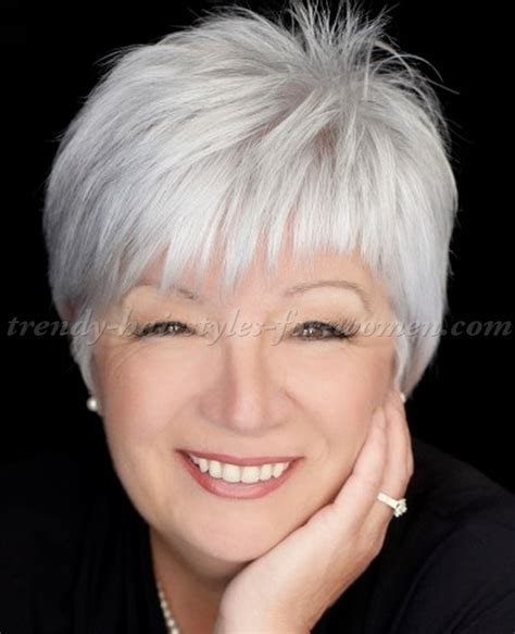 short hair styles for women over 50 gray hair short hairstyles over 50 short grey hairstyle trendy