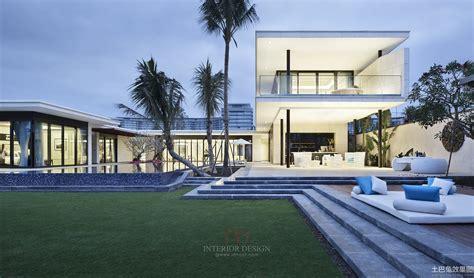 best white modern pool homes around the wourld 2014豪华别墅外观设计大全 土巴兔装修效果图