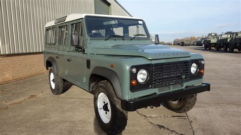 navy land rover land rover defender 110 station wagons rhd ex military for