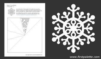 printable paper snowflakes instructions snowflake crafts for kids and free printable cut outs