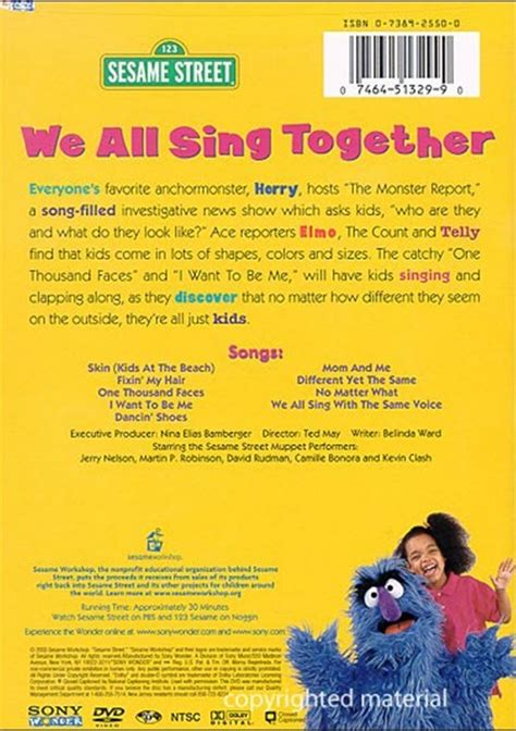 we all sing with sesame street we all sing together dvd 2003 dvd empire