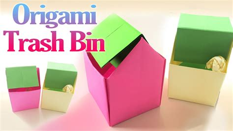 How To Make Paper Trash Can - how to make an origami trash bin step by step paper