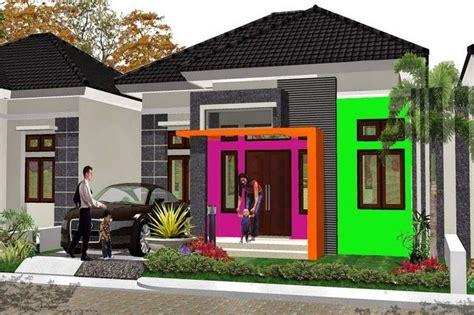 warna cat rumah bagian  kombinasi motif minimalis