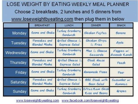 printable meal planner to lose weight 1200 calorie meal plan for fast weight loss lose weight