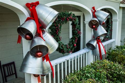 diy giant christmas bells diy silver bells home family hallmark channel