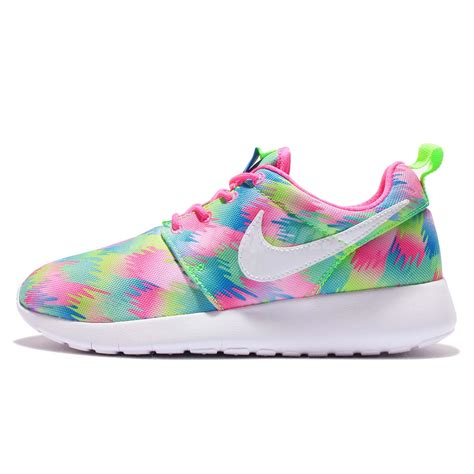 multi coloured running shoes nike roshe one print gs multi color rosherun youth