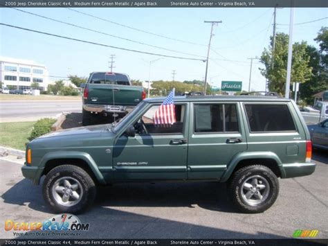 jeep cherokee green 2000 2000 jeep cherokee classic 4x4 medium fern green metallic