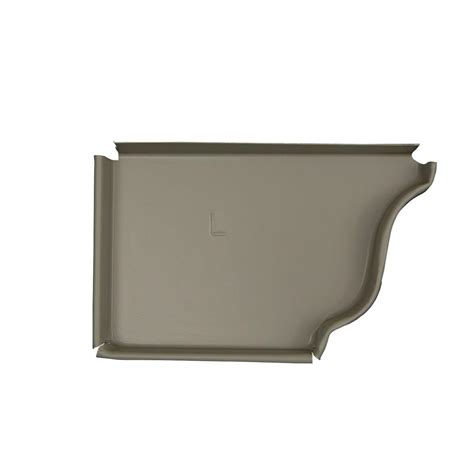 amerimax home products 6 in pearl gray aluminum left end