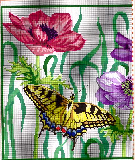 punto croce fiori e farfalle grande raccolta di schemi e grafici per punto croce free