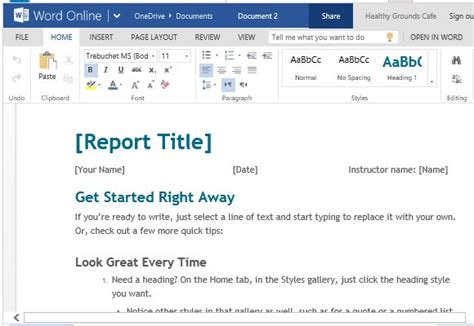 how to use a template free student report template for word powerpoint