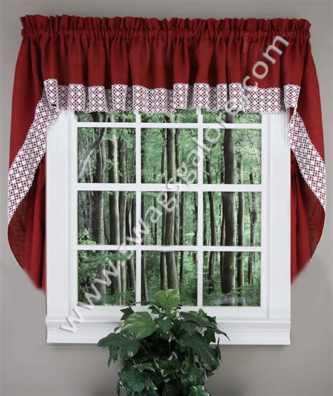 blue swag curtains salem country swags blue lorraine swag jabot curtains