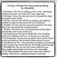 types  people  overcomplicate dating