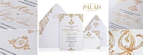 Wedding Invitations Gold And White by Gold White Wedding Invitations Onewed