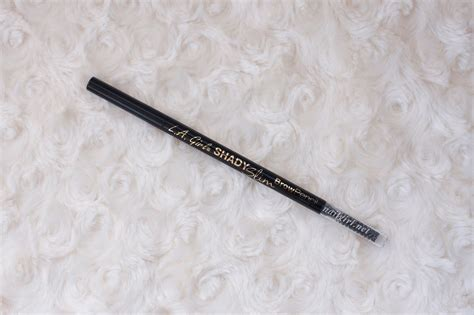 L A Shady Slim Brow Pencil brow talk l a shady slim brow pencil review