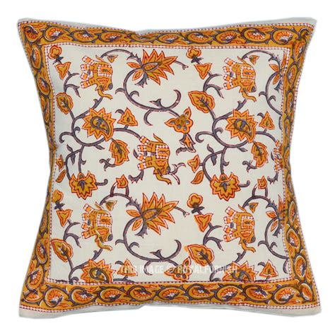 Decorative Elephant Pillows by Orange Block Elephant Floral Decorative Accent Pillow