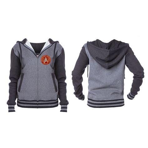 Jaket Zipper Hoodie Sweater Startrek Hitam trek starfleet academy unisex varsity zip hoodie trek and hoodie