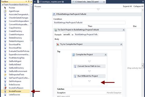 process template tfs select build deploy from tfs 2010 don t panic labs