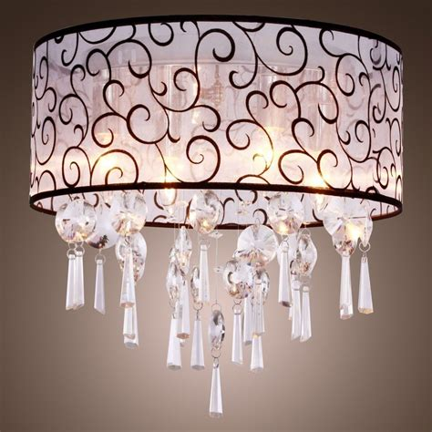 flush mount chandelier l ceiling