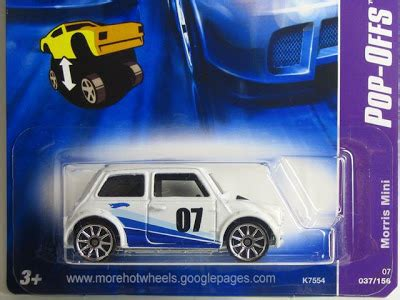 Wheels Pop Offs Morris Mini 2 wheels collecting guide complete 2007 pop offs series