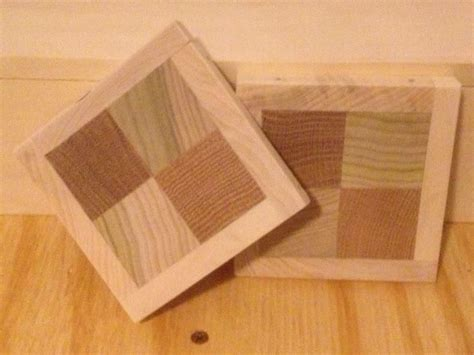 hand  handcrafted wooden checkerboard coasters