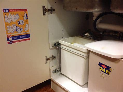 under sink recycling bin making recycling easier sustainable jill