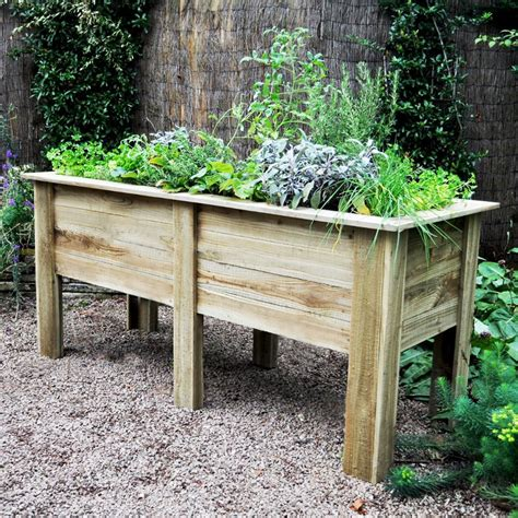 vegetable beds forest garden deep root 1 8m raised wooden veg bed