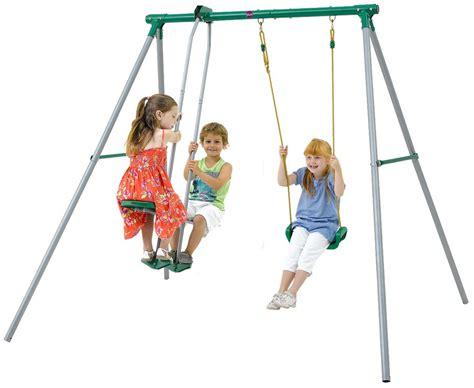 children swing garden outdoor playset swing childrens play swing set