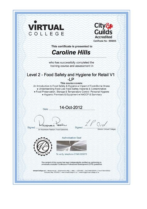 Food Hygiene Certificate Home Kitchen by General Updates Special Moments Gifts