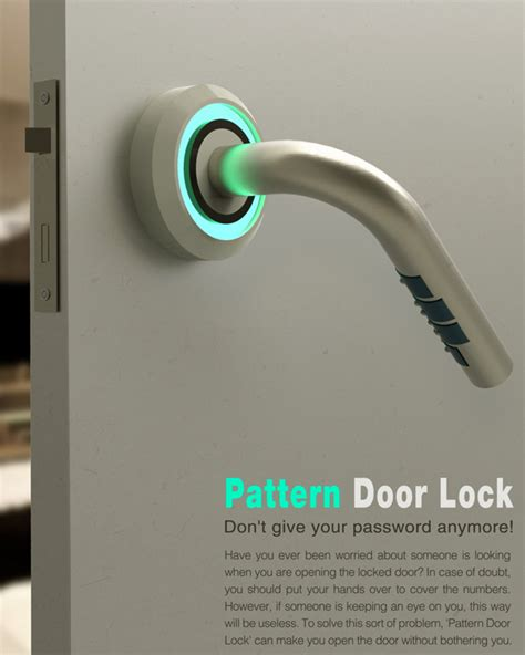 pattern lock new style behind locked doors yanko design