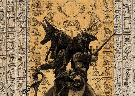 egyptian tattoo hd anubis and osiris by dandelum anubis pinterest