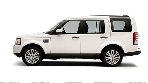 white land rover side pose of 2010 land rover discovery in white wallpaper