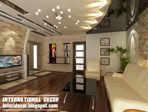 Modern Living Room Ceiling with Modern False Ceiling Designs For Living Room Interior Designs International Decoration