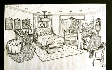 bedroom perspective drawing brandalyn designs perspective drawing master bedroom