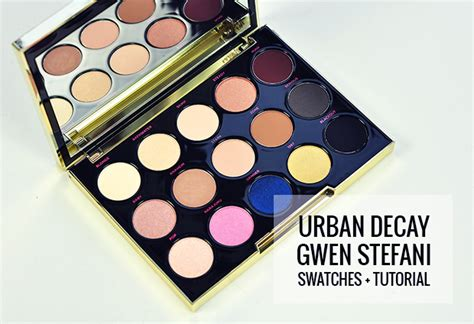 eyeshadow tutorial gwen stefani palette urban decay x gwen stefani eyeshadow palette swatches