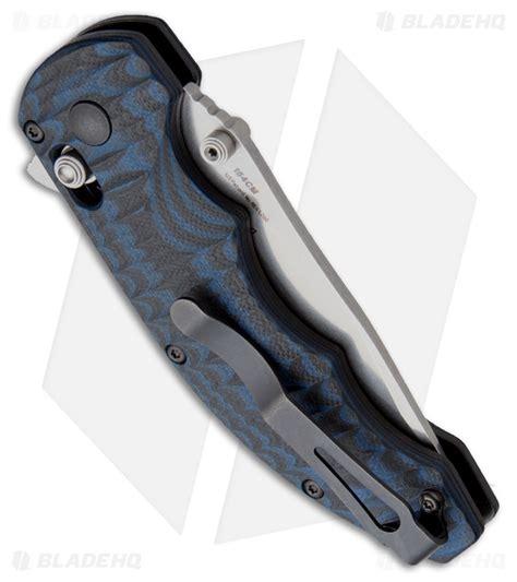 largest benchmade folder benchmade flipper axis lock knife black blue g 10 3