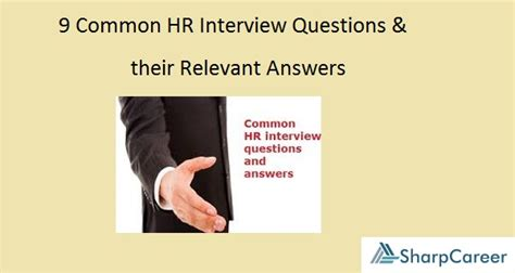 9 Common Questions And Answers by 9 Common Hr Questions And Their Relevant Answers
