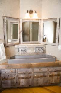 custom corner vanity rustic bathroom other metro