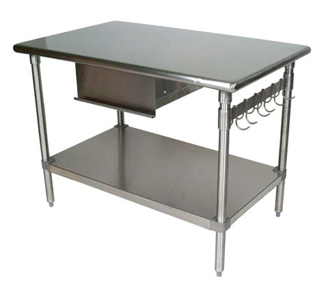 Top Brand Kitchen Knives Stainless Steel Table With Shelf Shelves Shelving
