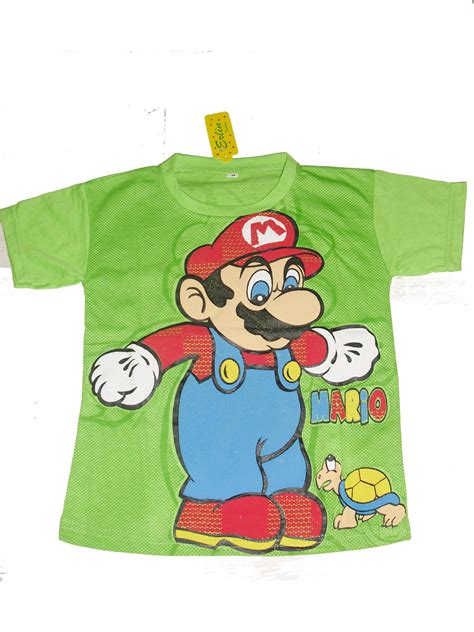 Kaos Mario S M L Xl by Erlin Fashion Kaos Atasan