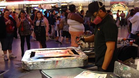 spray paint las vegas fremont fremont experience spray paint artist
