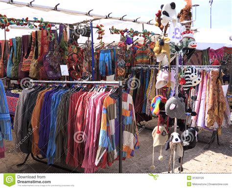 In The Fashion Marketplace by Festival Clothes Stall Stock Photo Image Of Merchandise