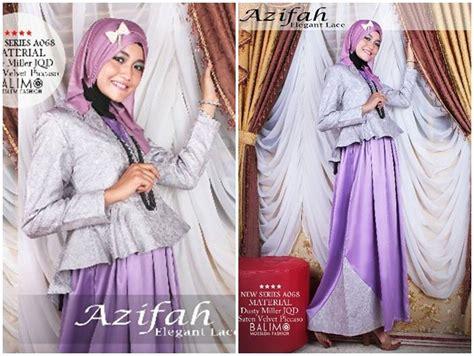 Balimo Terlaris balimo azifah purple baju muslim gamis modern