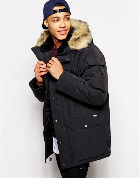 Sweater Carhart Roffico Cloth carhartt anchorage parka in black for lyst