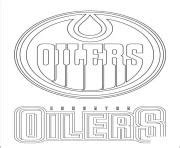 hockey coloring pages oilers coloriage lnh 224 imprimer