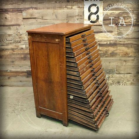 Drafting Cabinet by R Hoe Co 20 Drawer Antique Cherry Flat File Drafting Cabinet