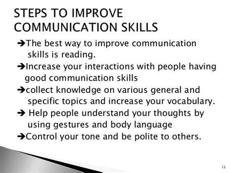 12 Ways To Improve Your Communication Skills by Communication Skills