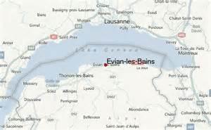 evian les bains location evian switzerland map
