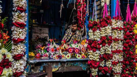 fiori indiani il mercato dei fiori mallick ghat a kolkata